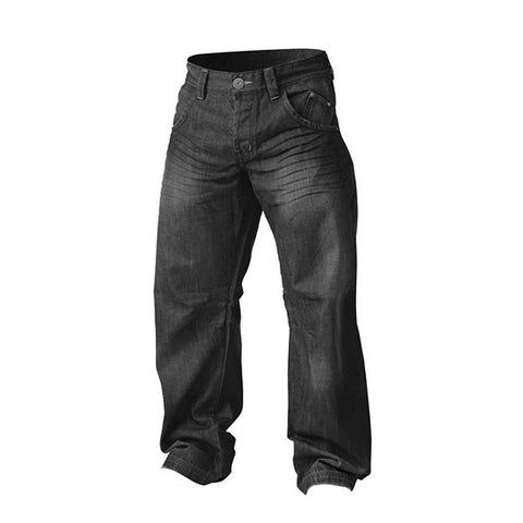 BAGGY DENIM NERO FRONTE | GASP WEAR | Outletintegratori.com