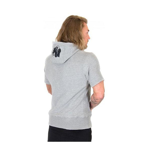 GW BOSTON SHORT SLEEVE HOODIE GREY |GORILLA WEAR|Outletintegratori.com
