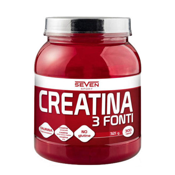 CREATINA POWDER 3 FONTI | SEVEN NUTRITION | Outletintegratori.com