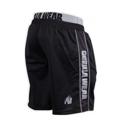 CALIFORNIA MESH SHORTS-BLACK & GREY|GORILLA WEAR|Outletintegratori.com