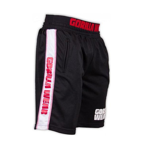 CALIFORNIA MESH SHORTS BLACK & RED |GORILLA WEAR|Outletintegratori.com