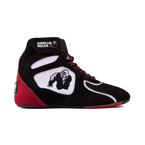CHICAGO HIGH TOPS BLACK,WHITE & RED|GORILLA WEAR|Outletintegratori.com