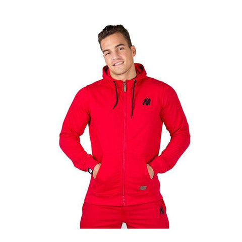GW CLASSIC ZIPPED HOODIE - RED 1 | GORILLA WEAR |Outletintegratori.com