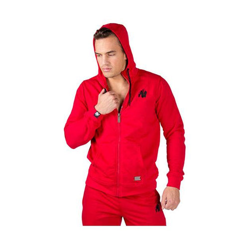 GW CLASSIC ZIPPED HOODIE - RED 2 | GORILLA WEAR |Outletintegratori.com