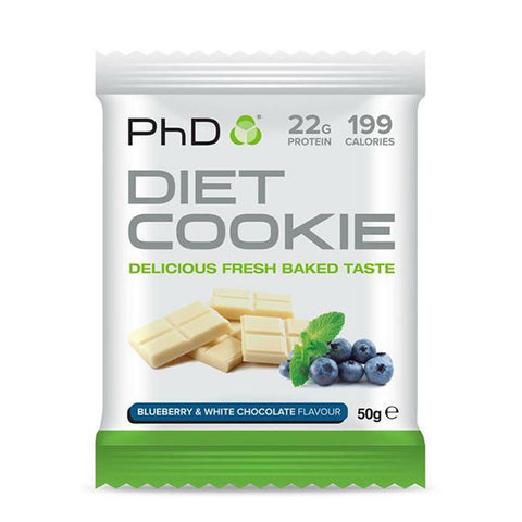 DIET COOKIE 12x50g Blueberry & White Chocolate | PhD | Outletintegratori.com