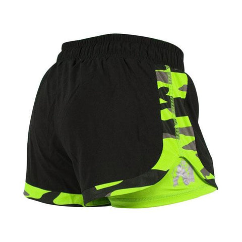 GW DENVER SHORTS BLACK & NEON LIME |GORILLA WEAR|Outletintegratori.com