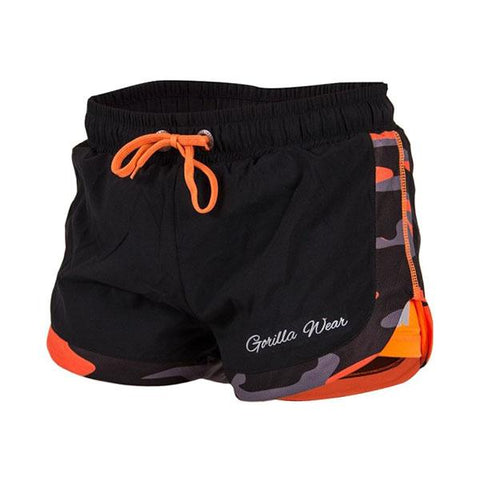 GW DENVER SHORTS BLACK NEON ORANGE|GORILLA WEAR|Outletintegratori.com