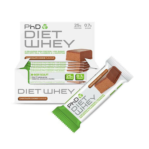 DIET WHEY BAR 12x50g Chocolate Cookie | PhD | Outletintegratori.com