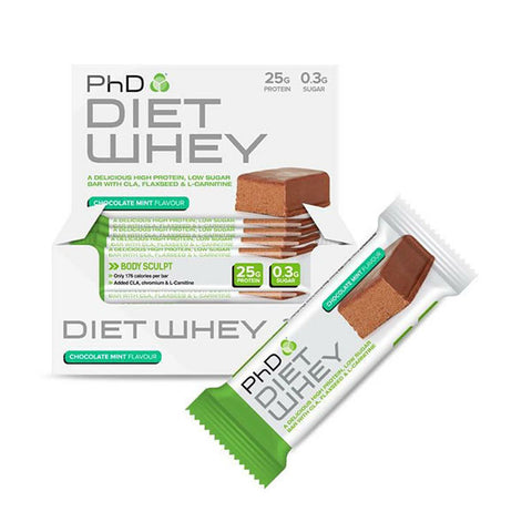 DIET WHEY BAR 12x50g Chocolate Mint | PhD | Outletintegratori.com