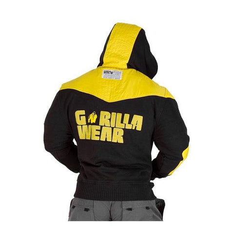 GW DISTURBED JACKET-BLACK & YELLOW|GORILLA WEAR| Outletintegratori.com
