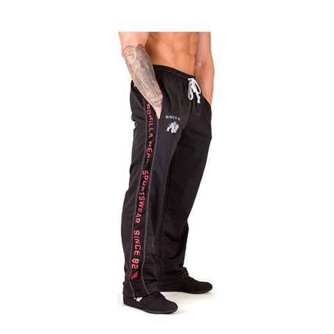 FUNCTIONAL MESH PANTS-BLACK & RED |GORILLA WEAR|Outletintegratori.com