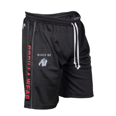 FUNCTIONAL MESH SHORTS-BLACK & RED |GORILLA WEAR|Outletintegratori.com