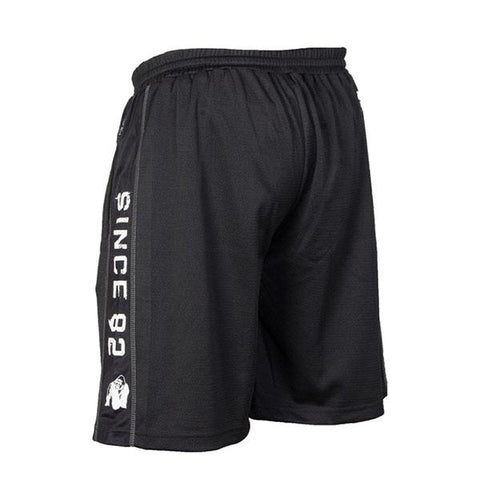 FUNCTIONAL MESH SHORTS-BLACK WHITE |GORILLA WEAR|Outletintegratori.com