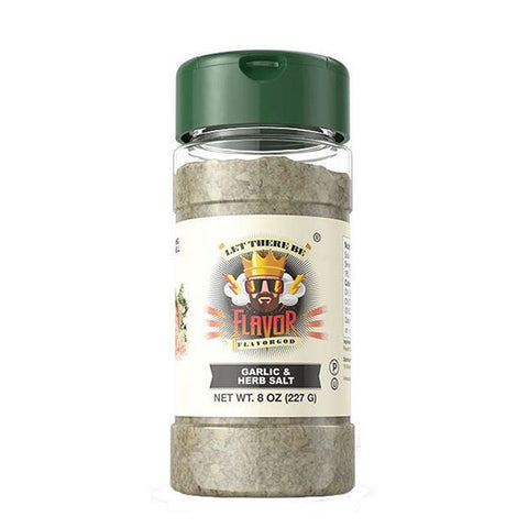 GARLIC & HERB SALT SEASONING 227g | FLAVOR GOD | Outletintegratori.com
