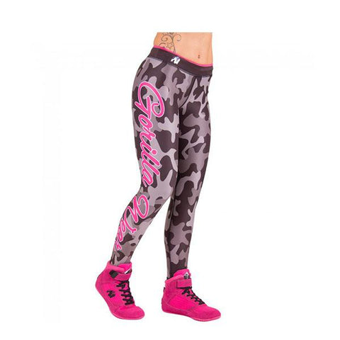 GW CAMO TIGHTS BLACK & GRAY 1 | GORILLA WEAR | Outletintegratori.com