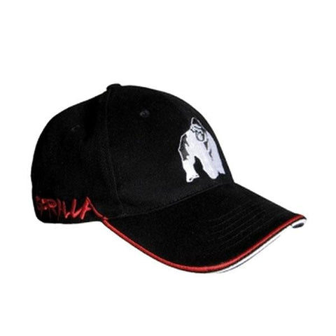 GW CORE CAP BLACK & RED 1 | GORILLA WEAR | Outletintegratori.com