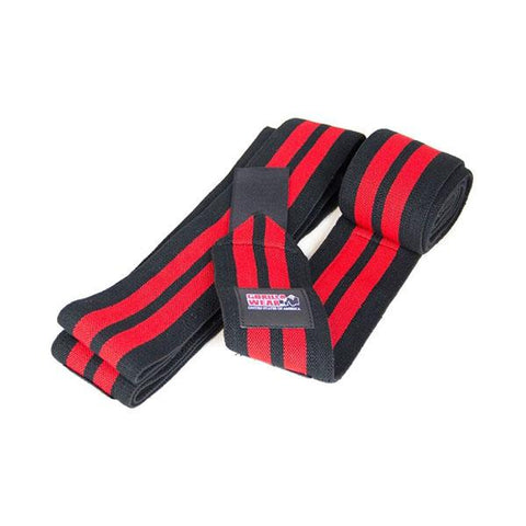 KNEE WRAPS 79 INCH/2M - BLACK & RED|GORILLA WEAR|Outletintegratori.com