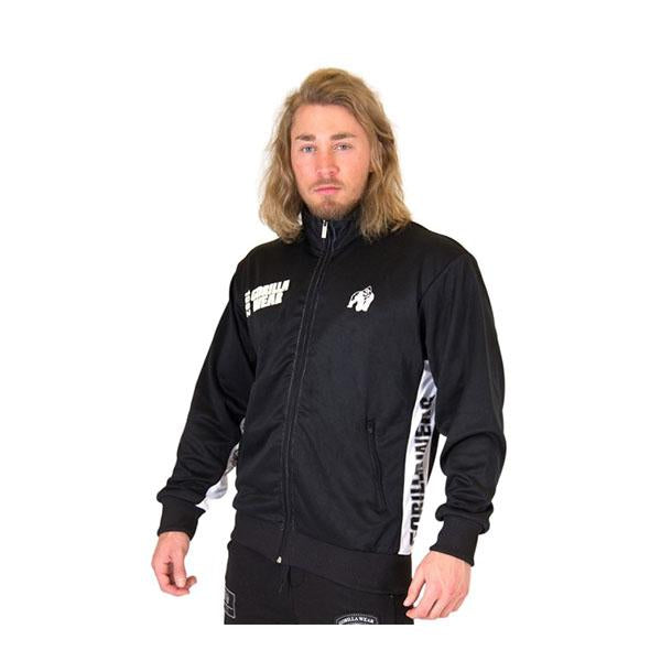 GW TRACK JACKET - BLACK & WHITE | GORILLA WEAR | Outletintegratori.com