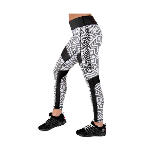GW PUEBLO TIGHTS - BLACK & WHITE| GORILLA WEAR | Outletintegratori.com