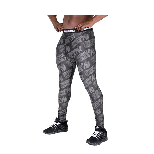 SAN JOSE MEN'S TIGHTS -BLACK & GREY|GORILLA WEAR|Outletintegratori.com