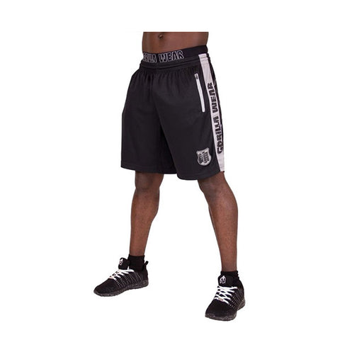 GW SHELBY SHORTS - BLACK & GREY | GORILLA WEAR | Outletintegratori.com