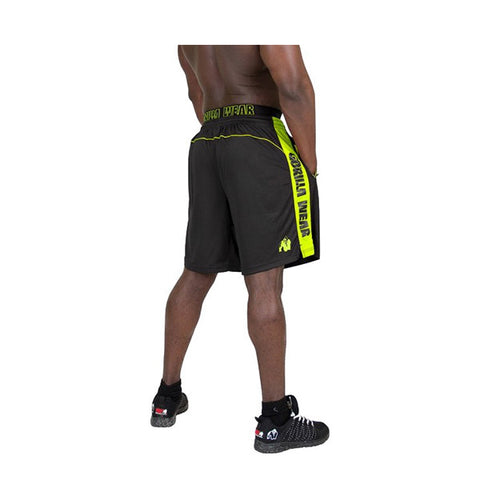 SHELBY SHORTS - BLACK & NEON LIME | GORILLA WEAR|Outletintegratori.com