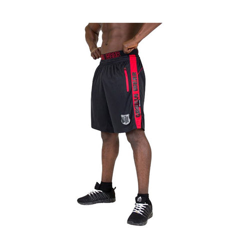GW SHELBY SHORTS - BLACK & RED | GORILLA WEAR | Outletintegratori.com