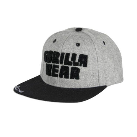 SOFT TEXT FLAT BRIM CAP - GREY | GORILLA WEAR | Outletintegratori.com
