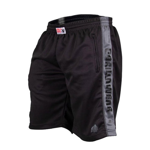 GW TRACK SHORTS - BLACK & GREY | GORILLA WEAR | Outletintegratori.com