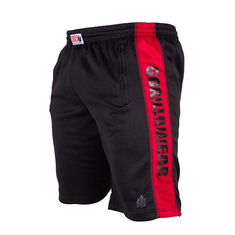 GW TRACK SHORTS - BLACK & RED | GORILLA WEAR | Outletintegratori.com
