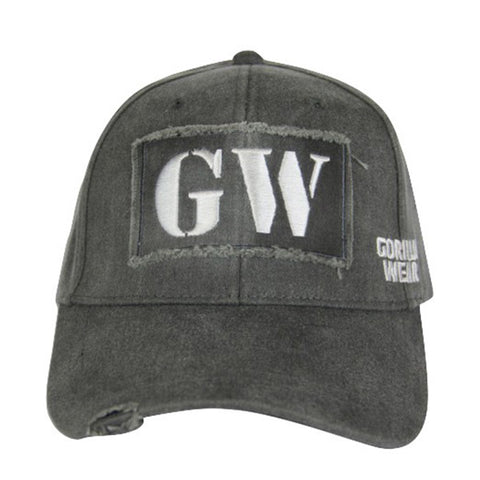 GW WASHED CAP FRONT - GREY | GORILLA WEAR | Outletintegratori.com