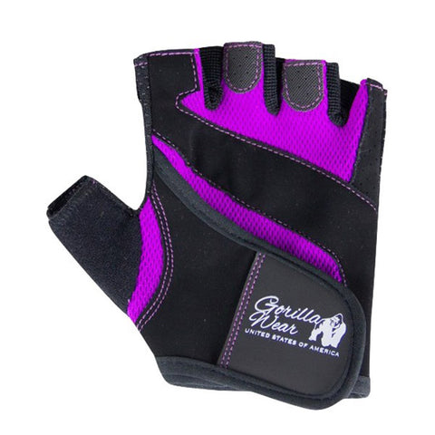 WOMEN'S FITNESS GLOVES -BLACK & PURPLE |GORILLA WEAR|Outletintegratori