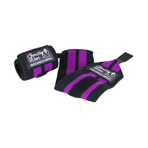 WOMEN'S WRIST WRAPS - BLACK & PURPLE |GORILLA WEAR | Outletintegratori