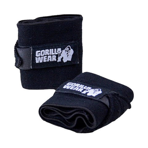GW WRIST WRAPS BASIC - BLACK | GORILLA WEAR | Outletintegratori.com