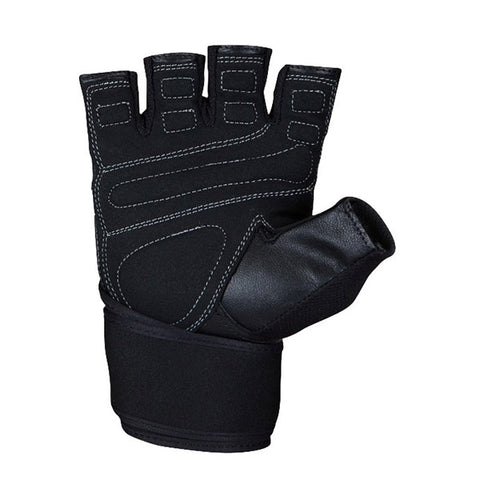 GW HARDCORE WRIST WRAPS GLOVES - BLACK