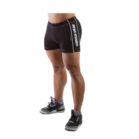 GW HEAVY SHORTS - BLACK | GORILLA WEAR | Outletintegratori.com