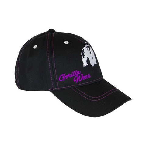 GW LADY LOGO CAP BLACK & PURPLE | GORILLA WEAR | Outletintegratori.com