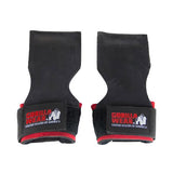 GW LIFTING GRIPS - BLACK & RED | GORILLA WEAR | Outletintegratori.com