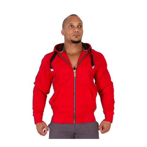 GW LOGO HOODED JACKET - RED | GORILLA WEAR | Outletintegratori.com