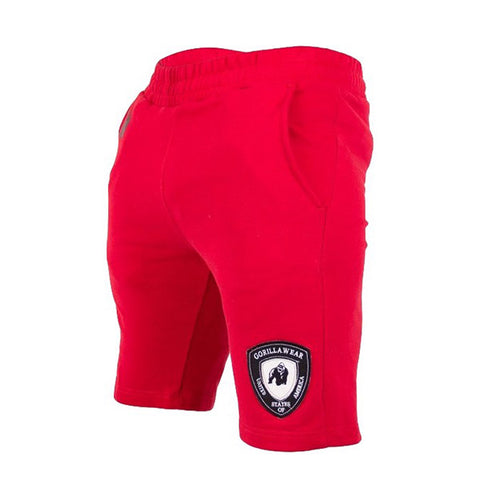 LOS ANGELES SWEAT SHORTS - RED | GORILLA WEAR | Outletintegratori.com