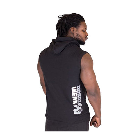 MELBOURNE S/L HOODED T-SHIRT BLACK |GORILLA WEAR|Outletintegratori.com