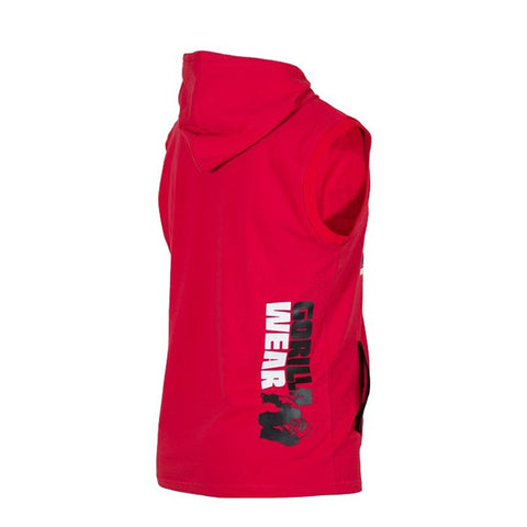 MELBOURNE S/L HOODED T-SHIRT RED | GORILLA WEAR| Outletintegratori.com