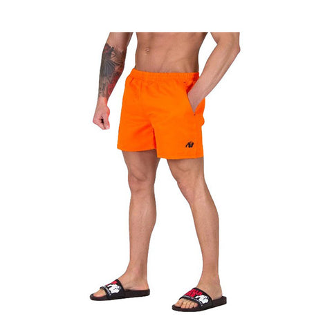 GW MIAMI SHORTS - NEON ORANGE | GORILLA WEAR | Outletintegratori.com
