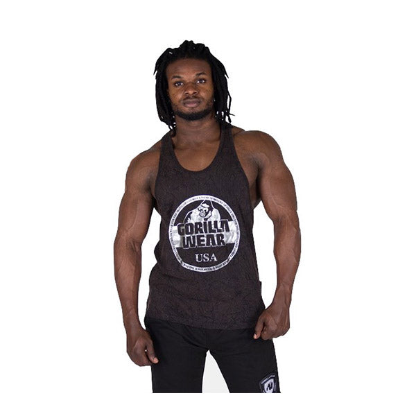 GW MILL VALLEY TANK TOP - BLACK | GORILLA WEAR | Outletintegratori.com