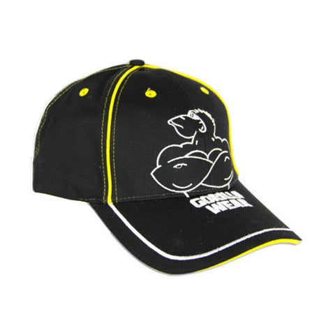 MUSCLED MONKEY CAP BLACK & YELLOW |GORILLA WEAR |Outletintegratori.com