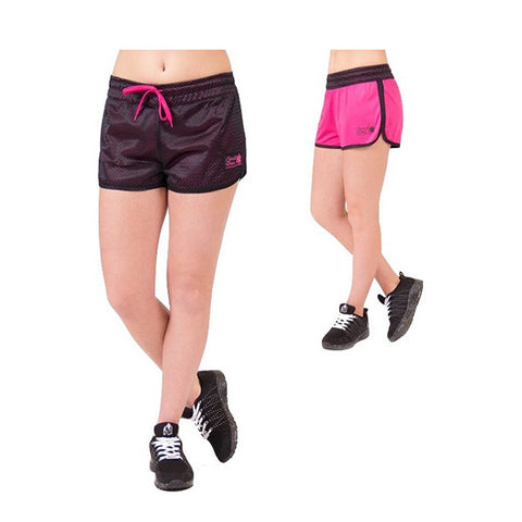 MADISON REVERSIBLE SHORTS BLACK-PINK |GORILLA WEAR| Outletintegratori