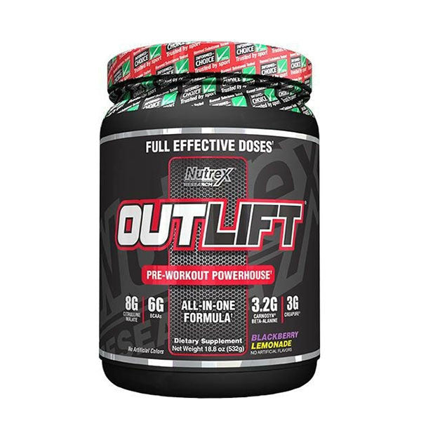 OUTLIFT 532g | NUTREX RESEARCH | Outletintegratori.com