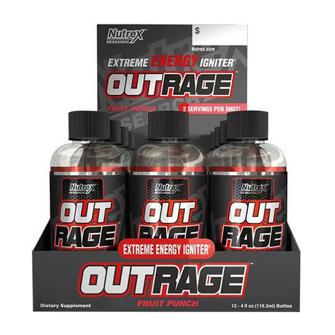 OUTRAGE ENERGY SHOT | NUTREX RESEARCH | Outletintegratori.com