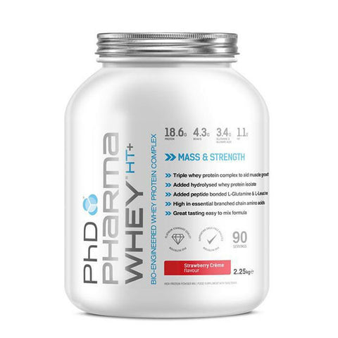 PHARMA WHEY HT+ 2.250kg Strawberry Crème | PhD | Outletintegratori.com
