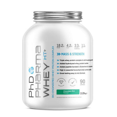 PHARMA WHEY HT+ 2.250kg Chocolate Mint | PhD | Outletintegratori.com